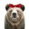 リボン付きクマ